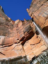 Waterfall above Emerald Pools