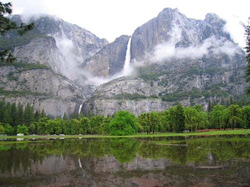 Flooded Meadow and Yosemite Falls