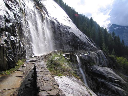 Waterfall on the JMT