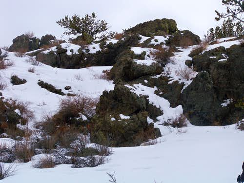 Rocky summit area