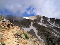Pawnee Peak is bathed in...