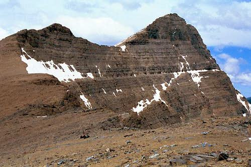 Crowfeet Mountain, from the...
