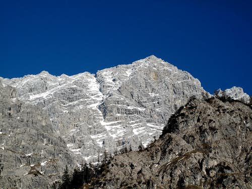 The south summit of the Watzmann (2713m) seen from the west