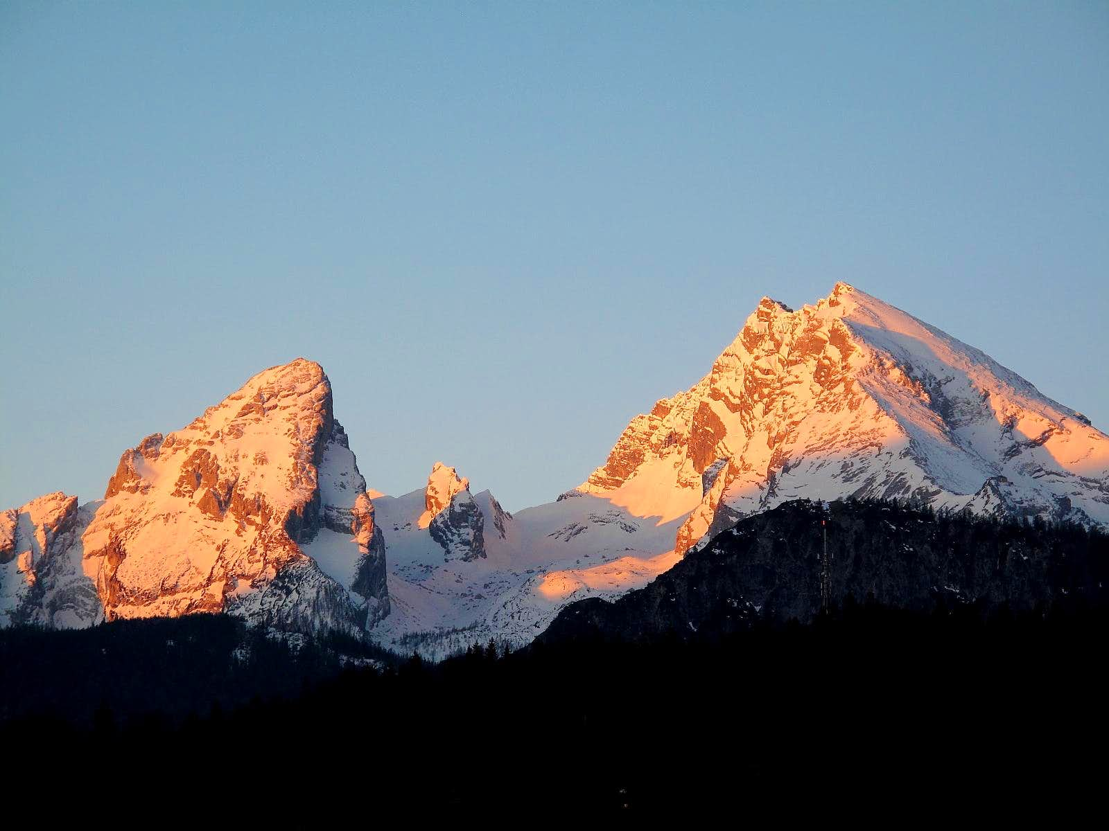 Early morning light on the Watzmann