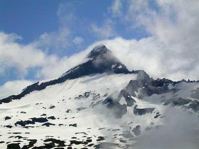 The Bortelhorn summit seen...