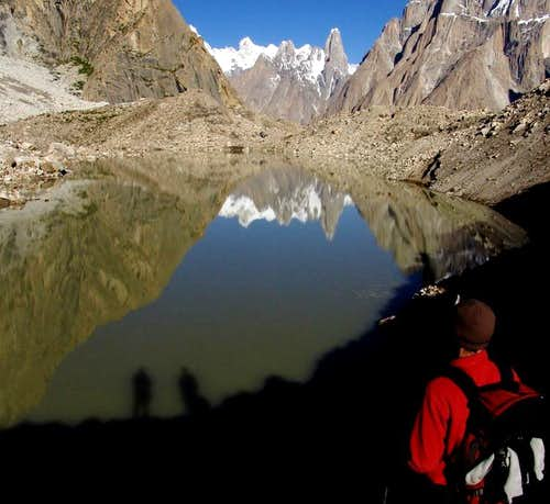 A View from Urdookas over Baltoro glacier.