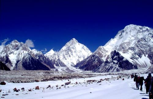 direction to K2 base camp from vigne glacier.