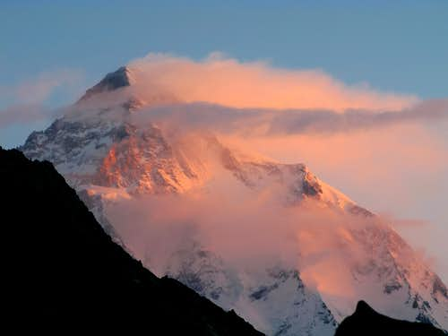 K2 sunrise from concordia