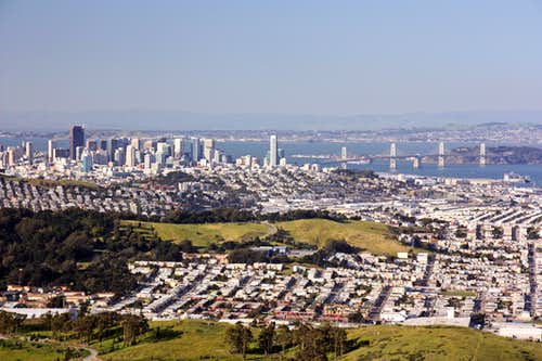 SF and Bay Bridge from San Bruno Mtn.