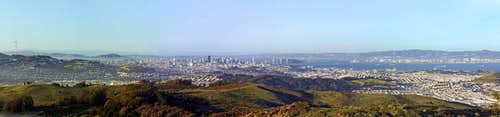 SF Peninsula panorama from San Bruno Mtn.