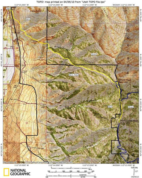 Farnsworth Peak Map