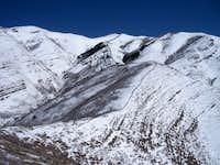 Route up Kessler Peak