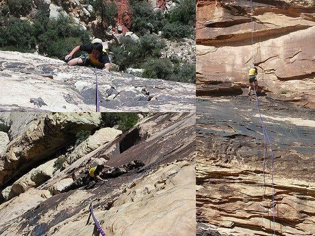 Climbing at Red Rocks. See my...