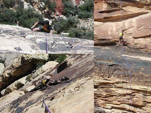 Climbing at Red Rocks. See my...