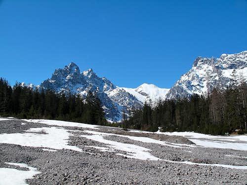Palfenhorn (2222m), Sigeretskopf (2066m) and Alpelhorn (2254m) in April