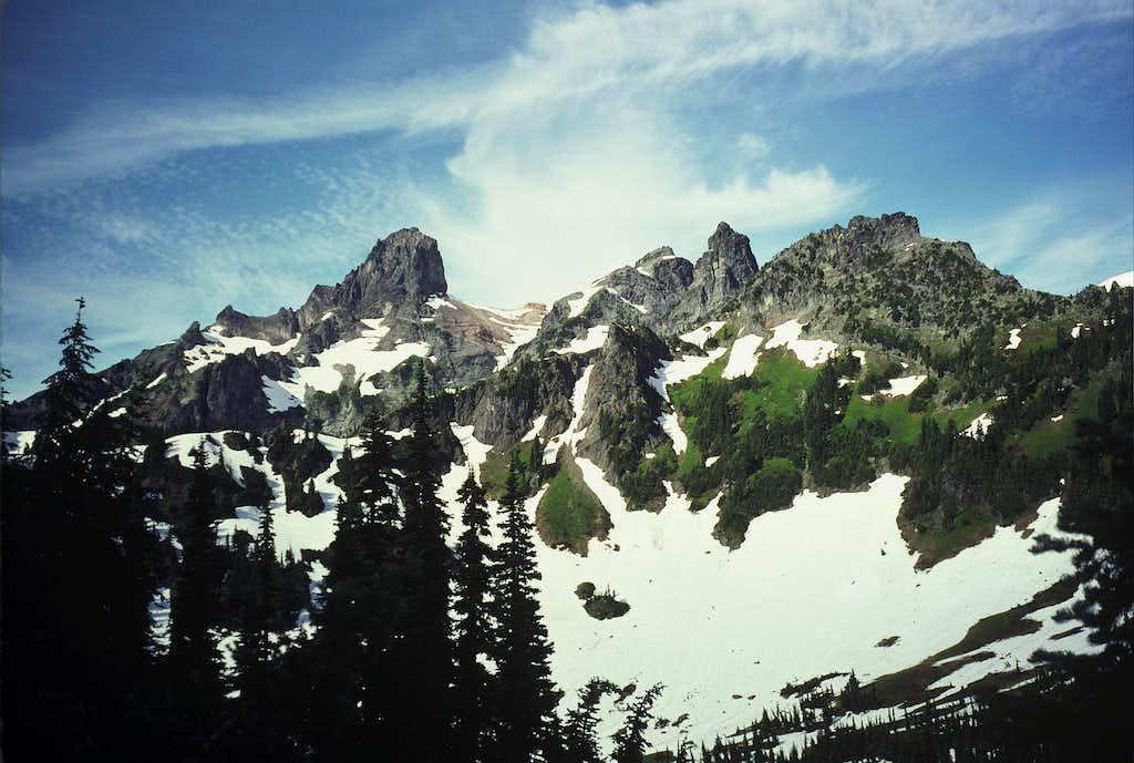 Cowlitz Chimneys from near Barrier Peak