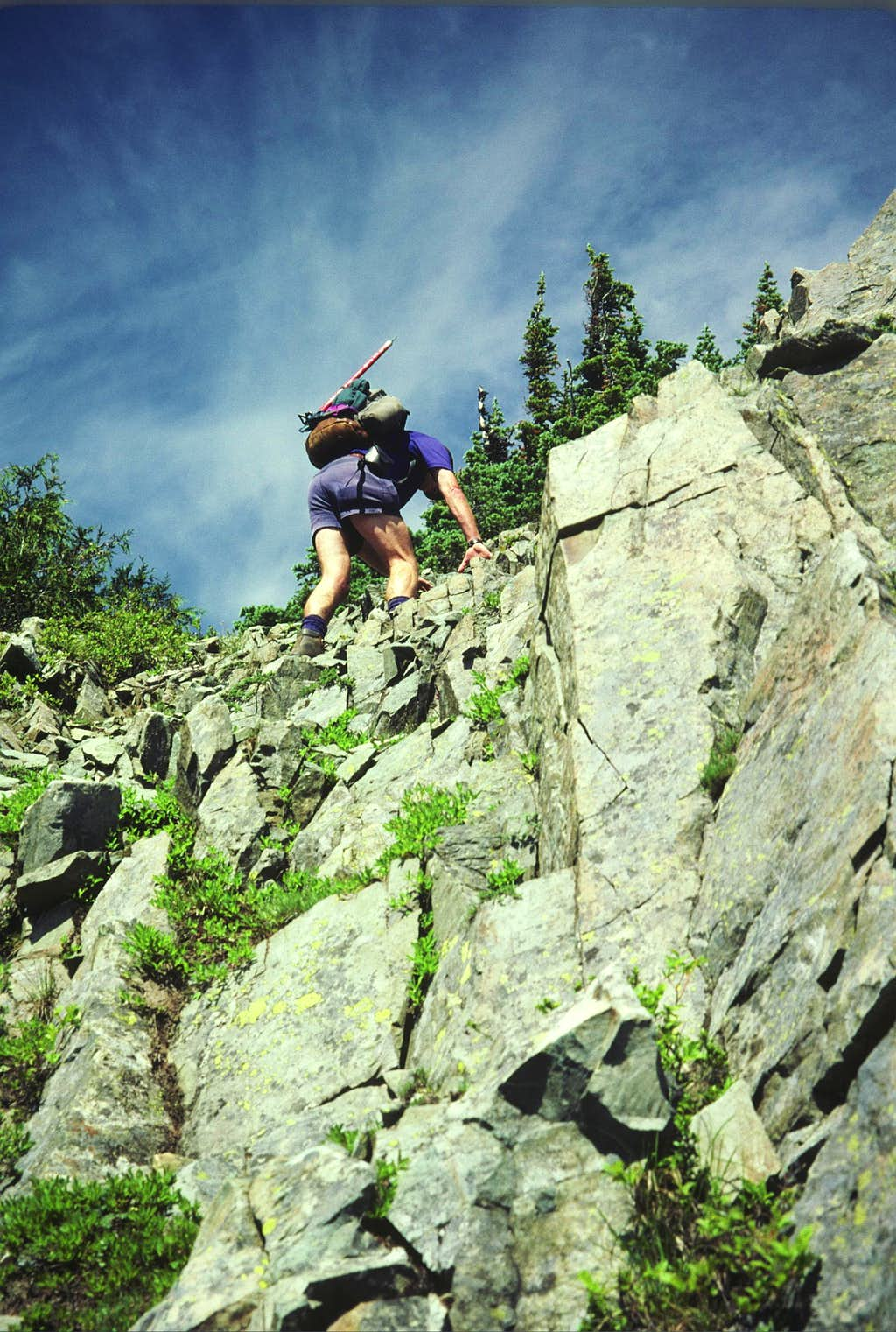 Scrambling on Barrier Peak