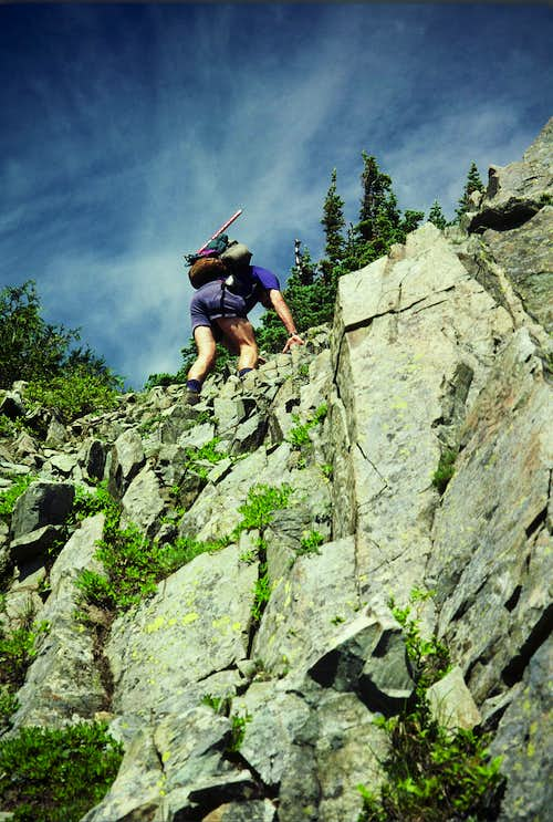 Scrambling on Barrier Peak