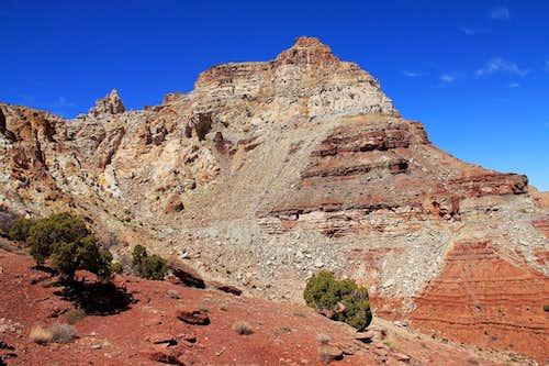 Temple Mountain's east summit.