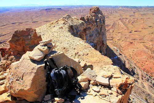 East Temple Mountain summit area.