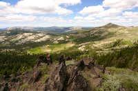 Basin Peak and Round Valley...