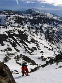 Steep Snow Climbing on Dicks Peak