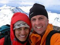 Paul and Vandi on Dicks Peak Summit
