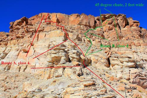 Class 4 scrambling routes, Temple Mountain.
