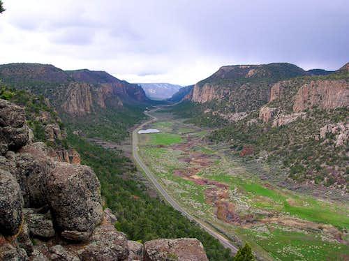 Unaweep Canyon North to South View