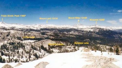 View of Mount Lyell group,...