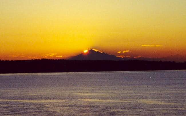 Mt. Baker at sunrise from the...