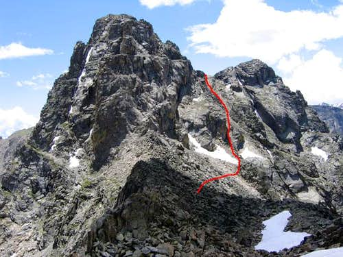 Mount Toll\'s NW Face route