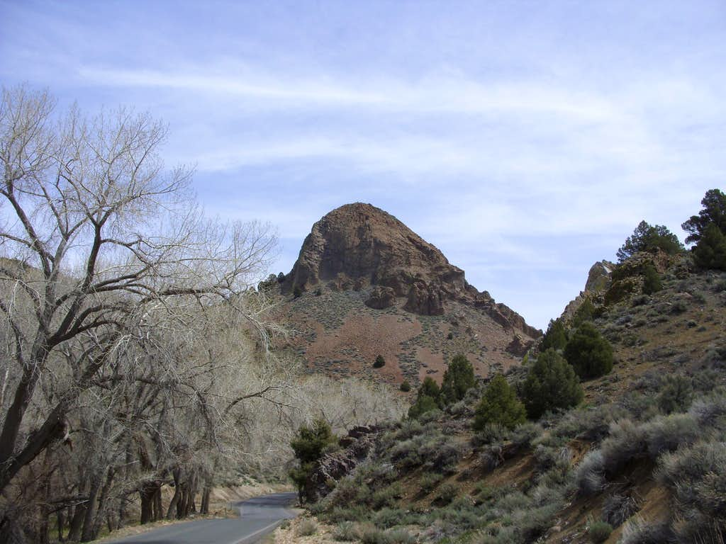 View of Sugarloaf from the main road