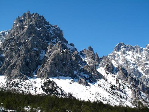 The Kleines Palfenhorn (2073m) seen from the Wimbachgries