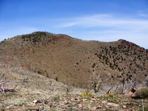 Zoom shot of Flowery Peak from 1/2 mile away
