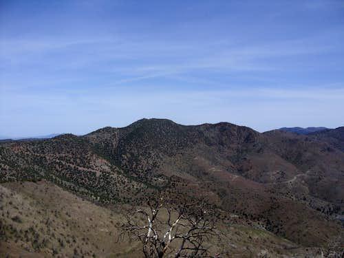 Peak 7036 seen from Flowery Peak 6581
