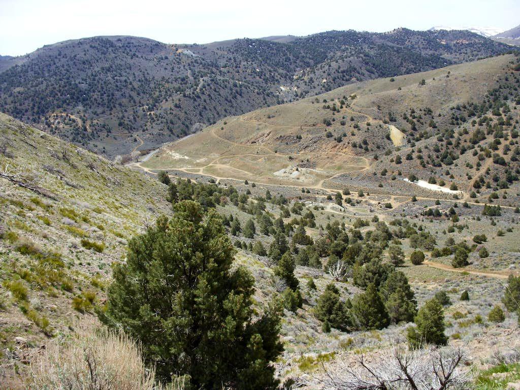 View coming down Flowery Peak