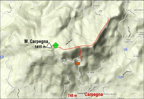 Monte Carpegna Map