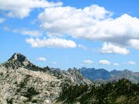 Looking over Sawtooth Ridge