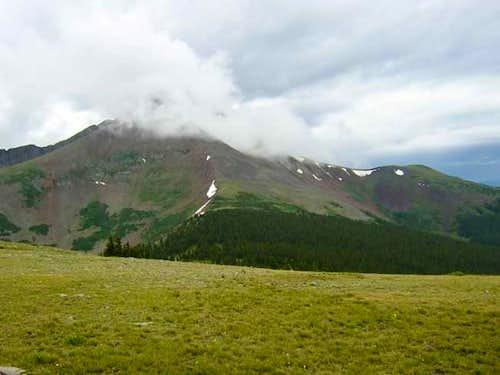 Mount Guyot enshrouded in...