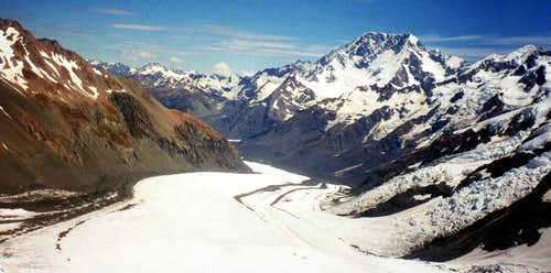 From the upper glacier