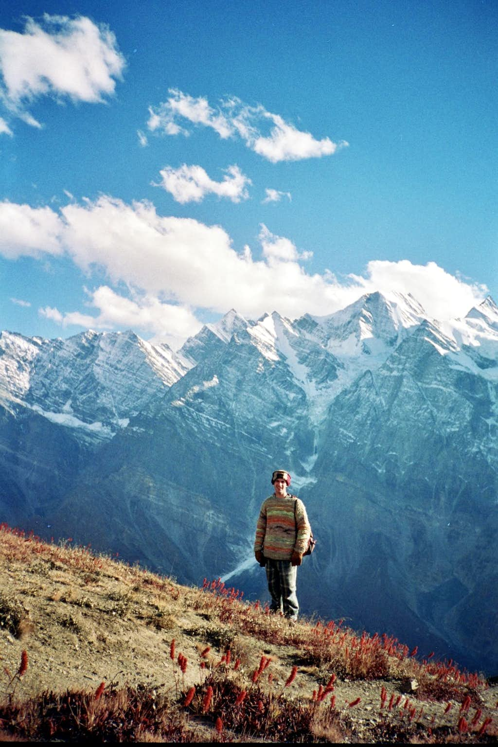 hiking above Keylong 1994