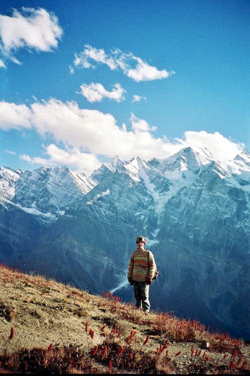 hiking above Keylong 1994