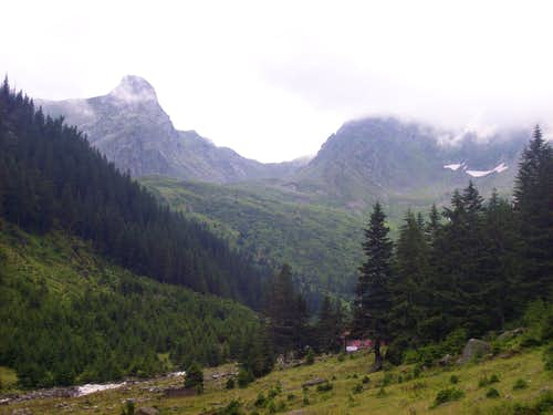 View from the Valea Sambatei Chalet