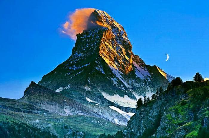 Matterhorn and the moon