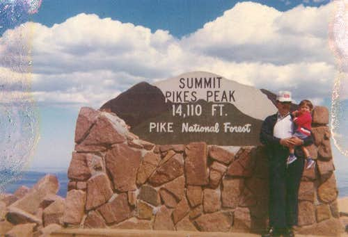 Summit of Pikes with Dad, 1976