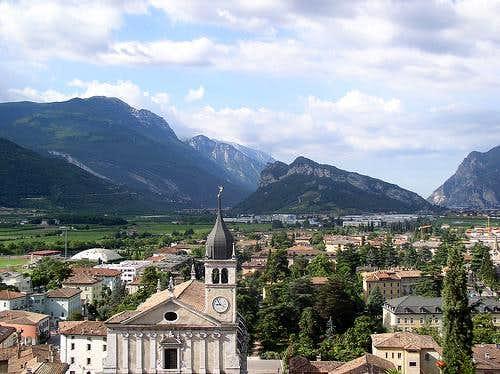 Village and hills