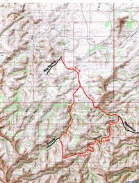 Map of Lost Canyon Trail