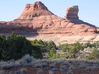 Formations near the First Slick Rock Pass