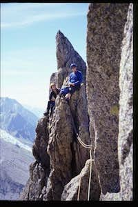 on the Papillons Arete
